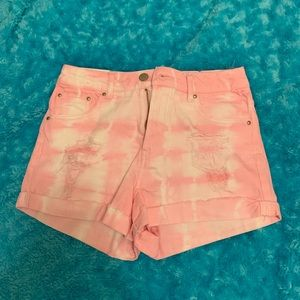 pink distressed denim shorts NEW WITH TAGS!